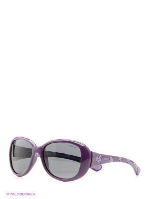 Солнцезащитные очки Polaroid. Цвет: фиолетовый, коричневый, красный