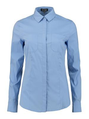 Рубашка Who is. Цвет: голубой