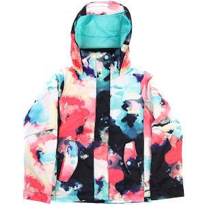 Куртка утепленная детская  Jet Girl Neon Grapefruit Roxy. Цвет: мультиколор
