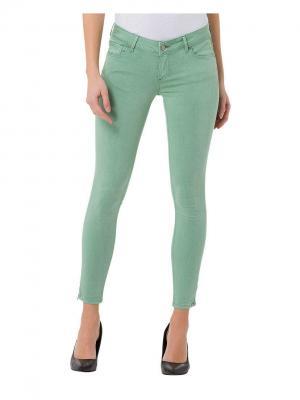 Джинсы Cross Jeans. Цвет: светло-зеленый