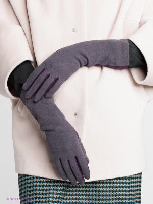 Перчатки Labbra. Цвет: фиолетовый, серый