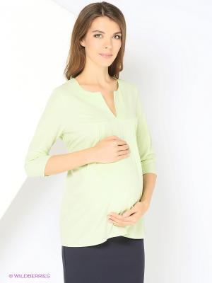 Блузка для беременных 40 недель. Цвет: салатовый