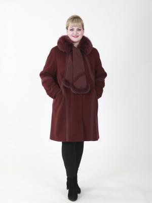 Пальто Джери VIKO. Цвет: сливовый