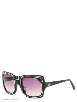 Солнцезащитные очки ML 528S 01 MOSCHINO. Цвет: черный
