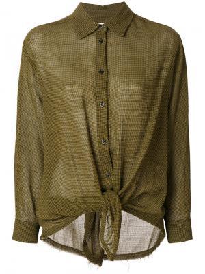Рубашка с узлом Masscob. Цвет: зелёный