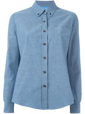 Рубашка Ansel Mih Jeans. Цвет: синий