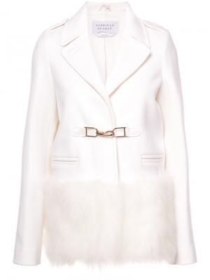 Пиджак с отделкой искусственным мехом Gabriela Hearst. Цвет: белый