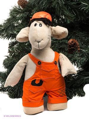 Мягкая игрушка Fluffy Family. Цвет: серо-коричневый, оранжевый