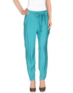 Повседневные брюки MISS MONEY. Цвет: бирюзовый