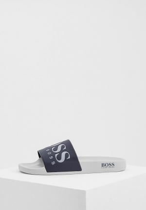 Шлепанцы Boss Hugo. Цвет: синий