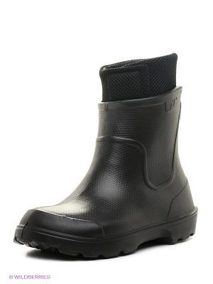 Резиновые сапоги Janett. Цвет: черный