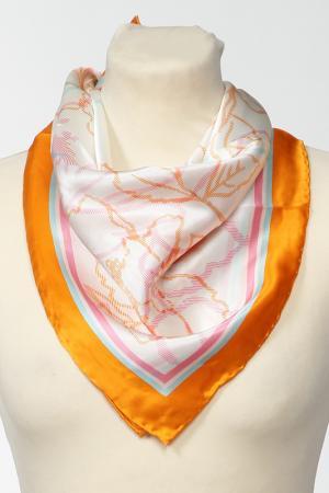 Платок F.FRANTELLI. Цвет: желтый, розовый, оранжевый