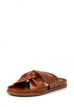 Шлепанцы Topshop. Цвет: коричневый