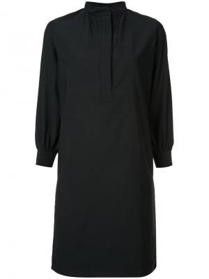 Платье-рубашка с воротником-стойкой Atlantique Ascoli. Цвет: чёрный