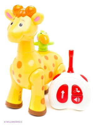 Развивающая игрушка  Жираф с пультом упр. Kiddieland. Цвет: зеленый, красный, желтый