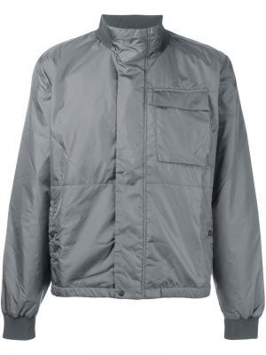 Куртка с высокой горловиной Tomas Maier. Цвет: серый