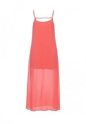 Платье QED London. Цвет: коралловый