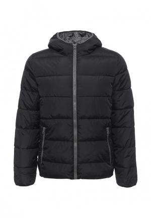 Куртка утепленная United Colors of Benetton. Цвет: черный