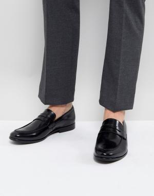 Zign Черные кожаные пенни-лоферы. Цвет: черный