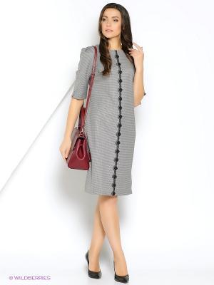 Классическое офисное платье с кружевной отделкой. ФЭСТ