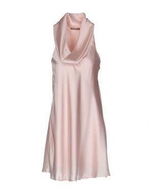 Короткое платье JOLIE CARLO PIGNATELLI. Цвет: светло-розовый