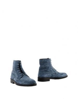 Полусапоги и высокие ботинки BORGO MEDICEO. Цвет: грифельно-синий