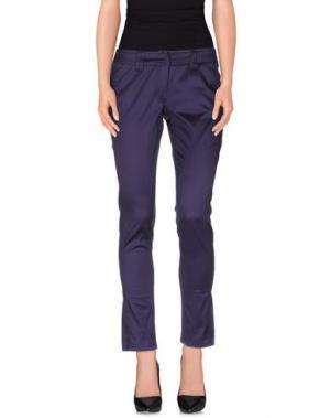 Повседневные брюки BLU BYBLOS. Цвет: темно-фиолетовый
