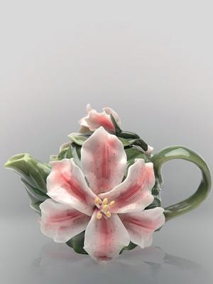 Заварочный чайник Pavone. Цвет: зеленый, бордовый, белый