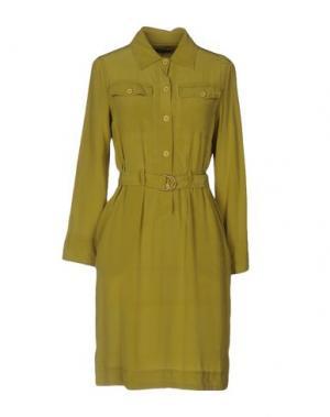 Короткое платье MALÌPARMI. Цвет: зеленый-милитари