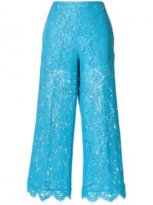 Укороченные расклешенные брюки Twin-Set. Цвет: синий