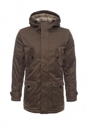 Куртка утепленная Aeronautica Militare. Цвет: коричневый