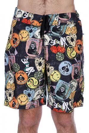 Пляжные мужские шорты  Shank Boardie 20 Black Globe. Цвет: черный