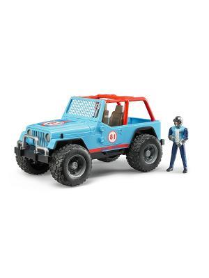 Внедорожник Cross Country Racer синий с гонщиком Bruder. Цвет: голубой, красный, черный