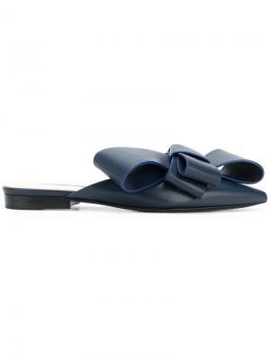 Слиперы с заостренным носком Delpozo. Цвет: синий