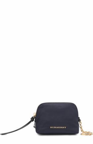 Текстильная косметичка-кошелек Burberry. Цвет: темно-синий