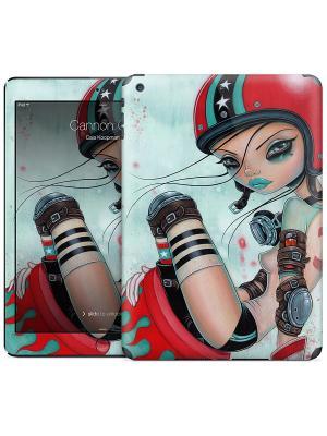 Наклейка на iPad Air Cannon Girl - Caia Koopman Gelaskins. Цвет: бирюзовый, красный