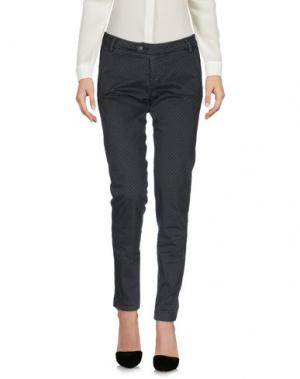 Повседневные брюки BONHEUR. Цвет: серый