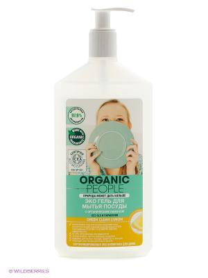 Эко-гель для мытья посуды Green clean lemon 500 ORGANIC PEOPLE. Цвет: белый