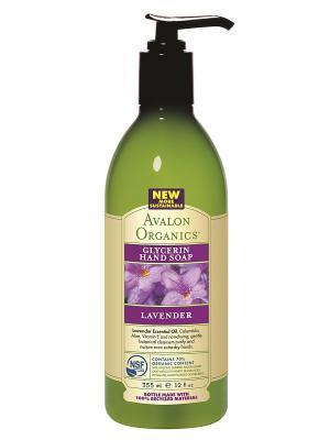 Глицериновое мыло с маслом лаванды, 355 мл Avalon Organics. Цвет: прозрачный