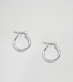 ASOS Серебряные серьги-кольца. Цвет: серебряный