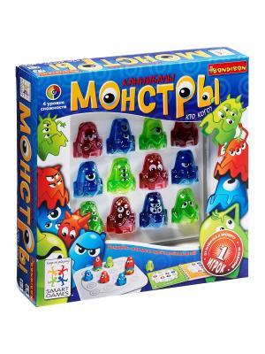 Логическая игра Bondibon Монстры, арт.SG 330  RU. Цвет: голубой, красный, зеленый