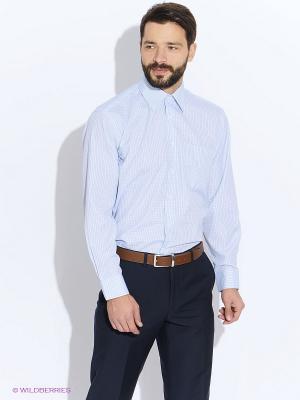 Рубашка мужская LIVANSO. Цвет: синий