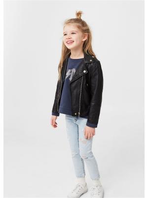 Куртка - MSANDY Mango kids. Цвет: черный