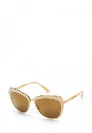Очки солнцезащитные Dolce&Gabbana. Цвет: бежевый