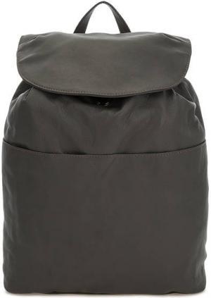 Вместительный рюкзак из мягкой кожи Io Pelle. Цвет: серый