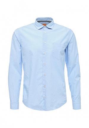 Рубашка Boss Orange. Цвет: голубой