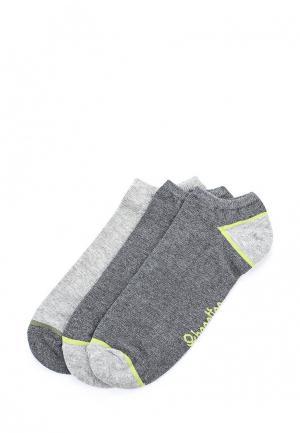 Комплект носков 3 пары United Colors of Benetton. Цвет: серый