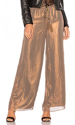 Широкие брюки plot point Bailey 44. Цвет: металлический медный
