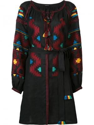 Платье миди Eagles с вышивкой Vita Kin. Цвет: чёрный