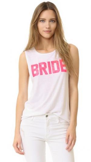 Майка Bride Private Party. Цвет: белый